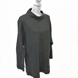 Loft Wool Blend Mock Turtleneck Sweater Size XL